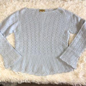 Paul Stuart 100% cashmere knit size medium scallop